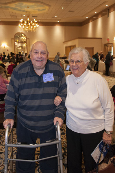 Couple attending a COPD conference