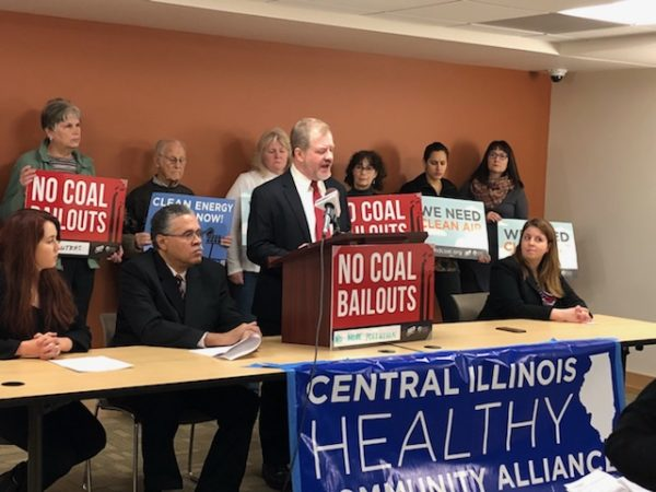 RHA testimony about coal power plant pollution at a hearing in 2018