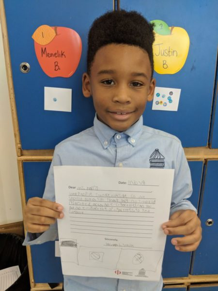 student wrote letter of advocacy to principal