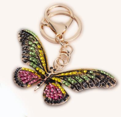 custom-designed butterfly keychain