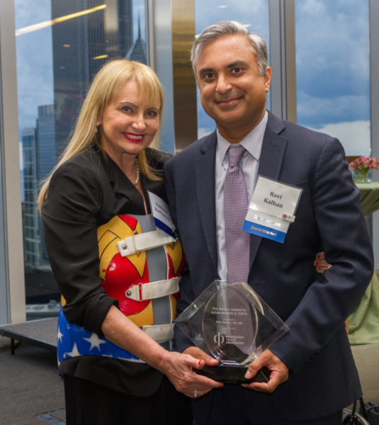 Kathleen Hart Solovy and Dr. Ravi Kalhan